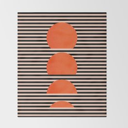 Abstraction_SUNSET_LINE_ART_Minimalism_001 Throw Blanket