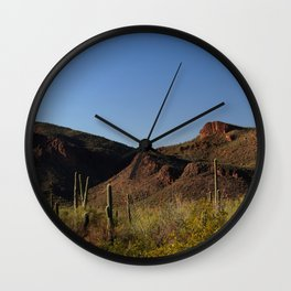 Picture Rocks in Saguaro National Park Wall Clock