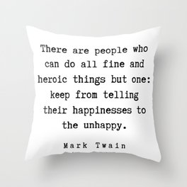 96    | Mark Twain Quotes | 190730 Throw Pillow