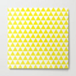 Yellow Triangle Pattern Metal Print