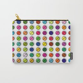 Multi-coloured Pills Pattern square Carry-All Pouch