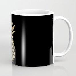 Gold Glitter Pineapple Coffee Mug