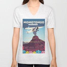 Momotombo Nicaragua Unisex V-Neck