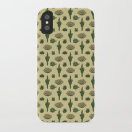 Cacti Pattern iPhone Case