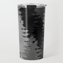 Pine Trees Black and White Travel Mug