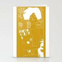 klimt Stationery Cards featuring Gustav Klimt by Ian CY Hau