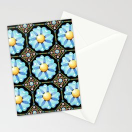 Blue Daisy Millefiori Stationery Cards