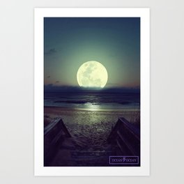 Moonlight Drift  Art Print