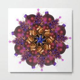 purple ornaments mandala Metal Print
