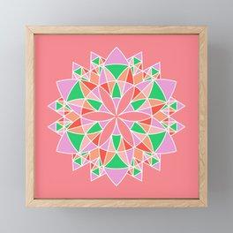 Kaleidoscope Mandala Pattern Framed Mini Art Print