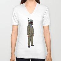boba V-neck T-shirts featuring Boba Steez by Greg Koenig