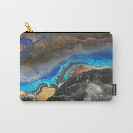 Storm Brewing - Fluid art on canvas Carry-All Pouch