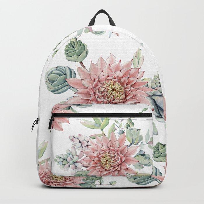 Flowering Succulents Backpack