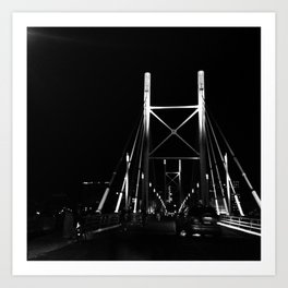 #56Photo #CriticalMass #GoodFridayAdventure #JoziAtNightOnABike Art Print
