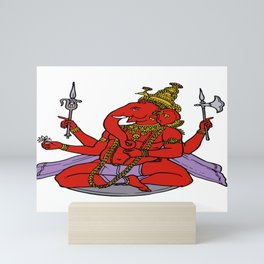 Rustic Glory Lord Ganesha Mini Art Print