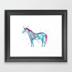 Unicorn Skeleton Framed Art Print