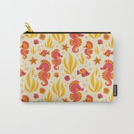 Seahorses (Orange & Pink) Carry-All Pouch