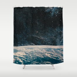 Earth and galaxy. Night Sky Space Shower Curtain