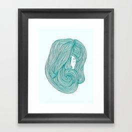 consumed - green variant Framed Art Print