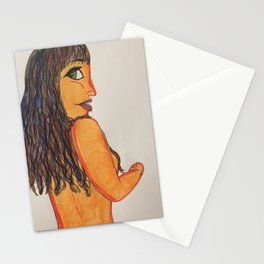 Shy Art Class Model Stationery Cards