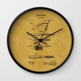 Curling Tong Patent 1899 Wall Clock