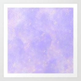 Soft Stars Art Print