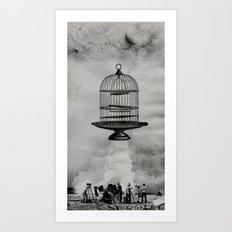 spaceship jail Art Print
