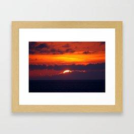 9:27 pm Framed Art Print