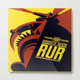 Vintage poster - RUR Metal Print