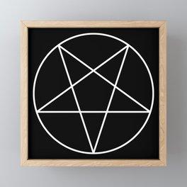 Inverted Pentagram Framed Mini Art Print
