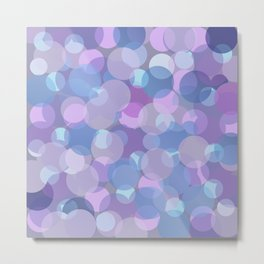 Pastel Pink and Blue Balls Metal Print