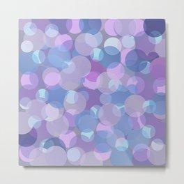 Pastel Pink and Blue Balls Metal Print