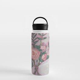 Pops of Hot Pink Florals Water Bottle