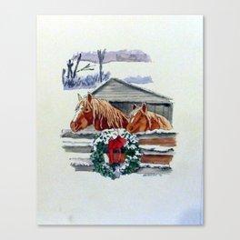 Christmas Ponies Canvas Print
