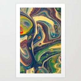 Blurple Monster Art Print