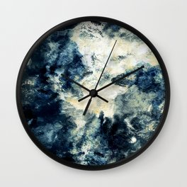 Drowning in Waves Texture Wall Clock