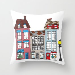 Small Business Shoppes Throw Pillow