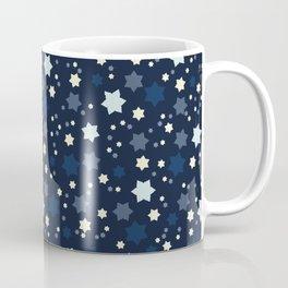 Frilly Star Field Texture  Drawn Starry Ornament Coffee Mug