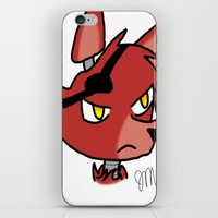 fnaf iPhone & iPod Skins featuring Foxy by Darkerin Drachen