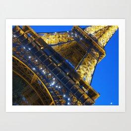 Eiffel Tower Sparkles Art Print
