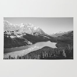 Landscape Photography Peyto Lake | Black and white Rug