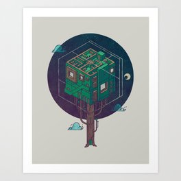 The Future is Green Art Print