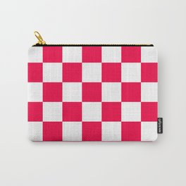 Cheerful Red Checkerboard Pattern Carry-All Pouch