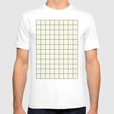 simple grid White MEDIUM Mens Fitted Tee