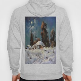 Winter in the village # 6 Hoody