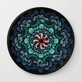 Abstract Floral Mandala Wall Clock