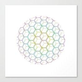 Rainhex Circle (White) Canvas Print