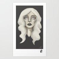 GirlDraft-5 Art Print