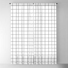 Grid Stripe Lines Black and White Minimalist Geometric Blackout Curtain