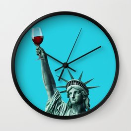 Liberty of drinking Wall Clock